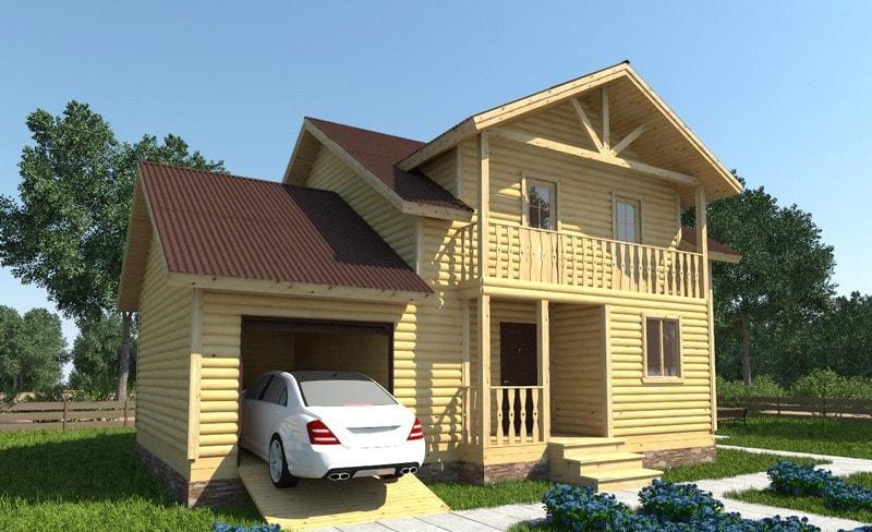 Проект дома из бруса 9 на 11