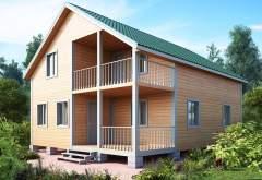 Двухэтажный дом из бруса KA-126 (нажмите для увеличения)