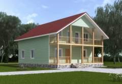 Каркасный дом КСД-14 (нажмите для увеличения)