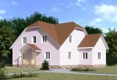 Каркасный дом КСД-16 (нажмите для увеличения)