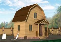 Дачный дом из бруса ДД-5 (нажмите для увеличения)