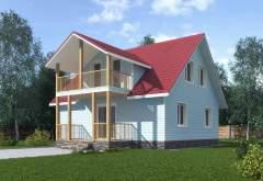 Каркасный дом КСД-06 (нажмите для увеличения)