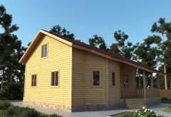 Каркасный дом АФК-107 (нажмите для увеличения)