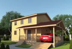 Каркасный дом АФК-110 (нажмите для увеличения)