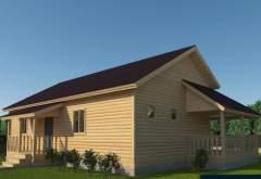 Каркасный дом АФК-122 (нажмите для увеличения)