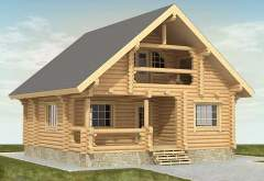 Двухэтажный дом из кругляка ДК-104 (нажмите для увеличения)