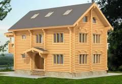 Трехэтажный дом из кругляка ДК-110 (нажмите для увеличения)