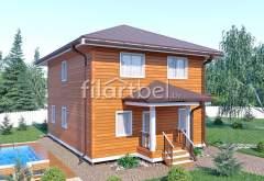 Дом из бруса БД-06 (нажмите для увеличения)