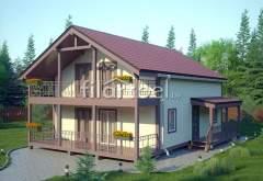 Каркасный дом КД-08 (нажмите для увеличения)