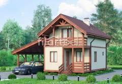 Каркасный дом КД-18 (нажмите для увеличения)