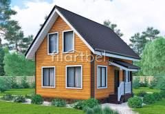 Каркасный дом КД-26 (нажмите для увеличения)