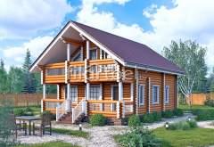 Дом из оцилиндрованного бревна ОД-03 (нажмите для увеличения)