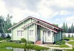 Дом из оцилиндрованного бревна ОД-19 (нажмите для увеличения)