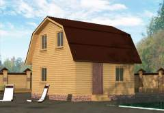 Дом из бруса ДД-14 (нажмите для увеличения)