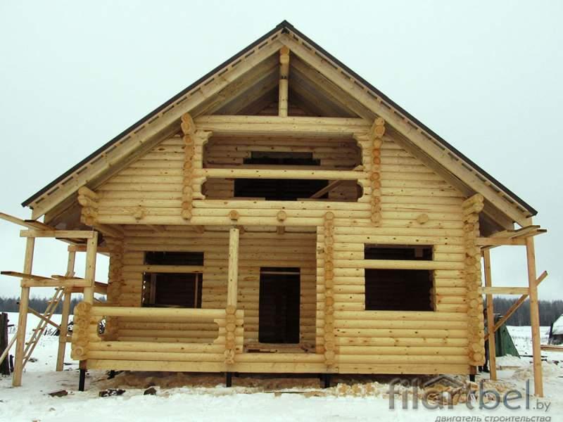 Дом из ОЦБ оставленный под усадку