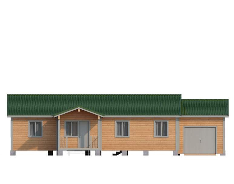 Дом из бруса КА-128 (нажмите для увеличения)