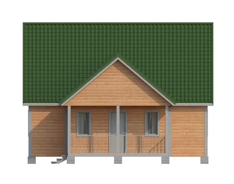Дачный дом из бруса КА-125 (нажмите для увеличения)