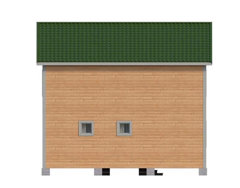 Двухэтажный дом из бруса KA-124 (нажмите для увеличения)