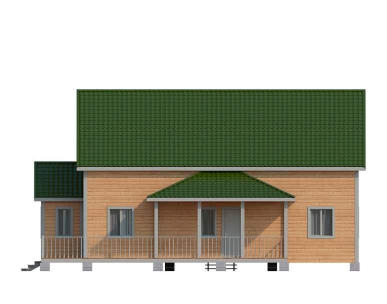 Дом из бруса с террасой КА-133 (нажмите для увеличения)