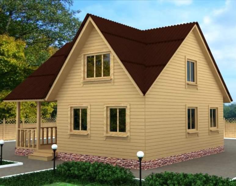 Дачный дом из бруса ДД-37 (нажмите для увеличения)