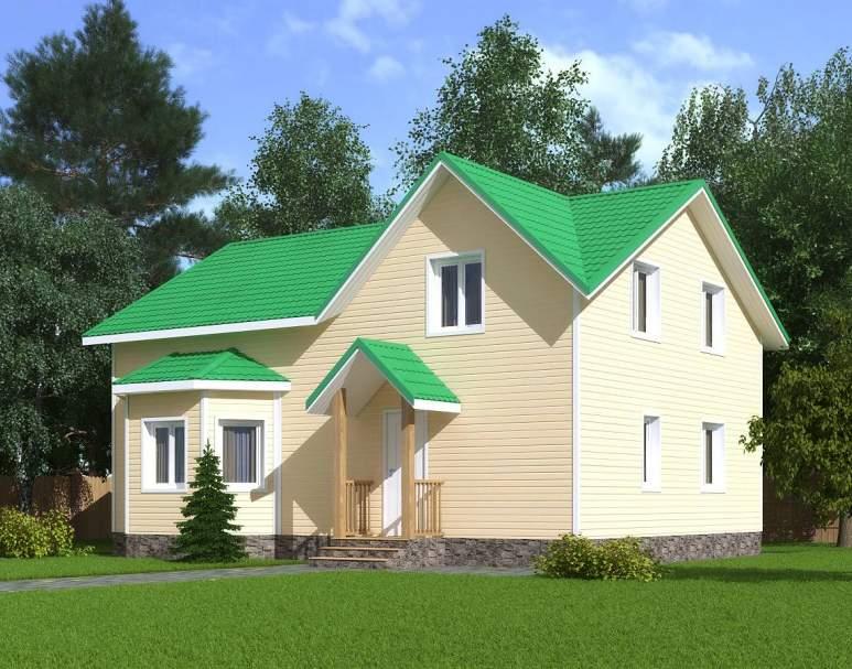 Каркасный дом КСД-08 (нажмите для увеличения)