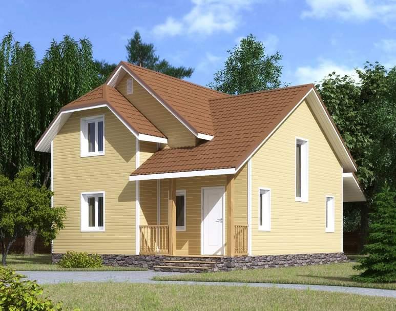 Каркасный дом КСД-10 (нажмите для увеличения)