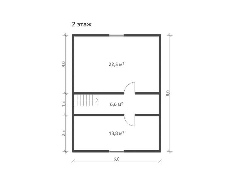 Дом из бруса КА-127 (нажмите для увеличения)