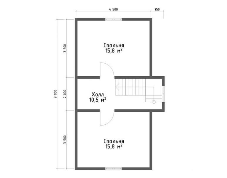 Дом из бруса КА-134 (нажмите для увеличения)
