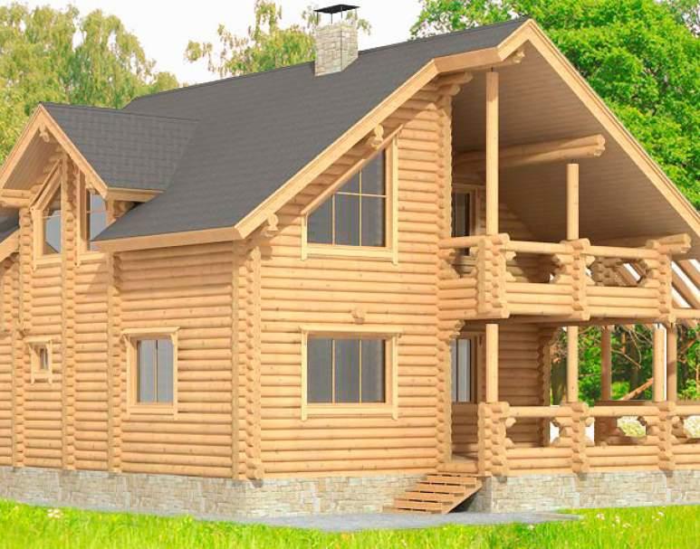 Дом с террасой и балконом ДК-106 (нажмите для увеличения)