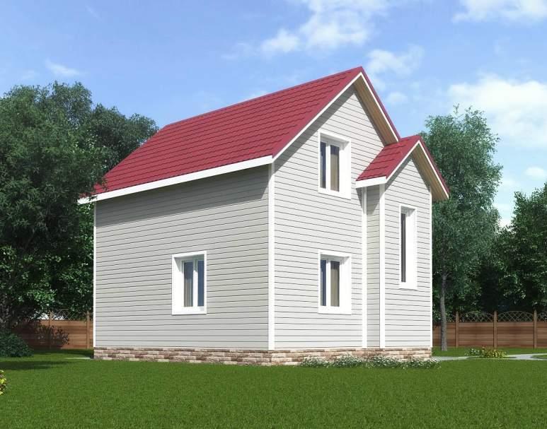 Каркасный дом КСД-01 (нажмите для увеличения)
