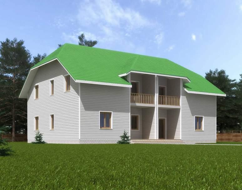 Каркасный дом КСД-20 (нажмите для увеличения)