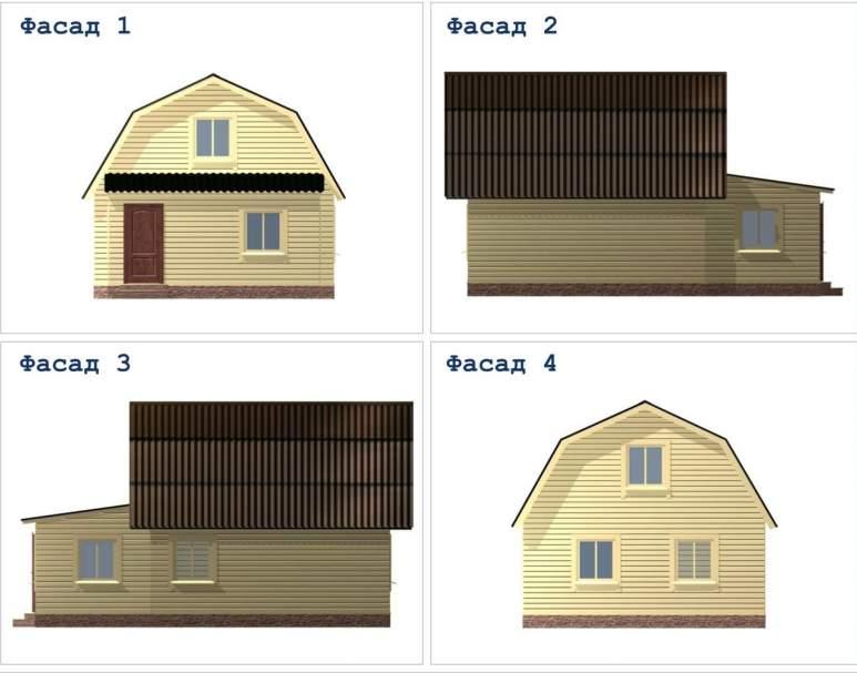 Дачный дом из бруса ДД-29 (нажмите для увеличения)