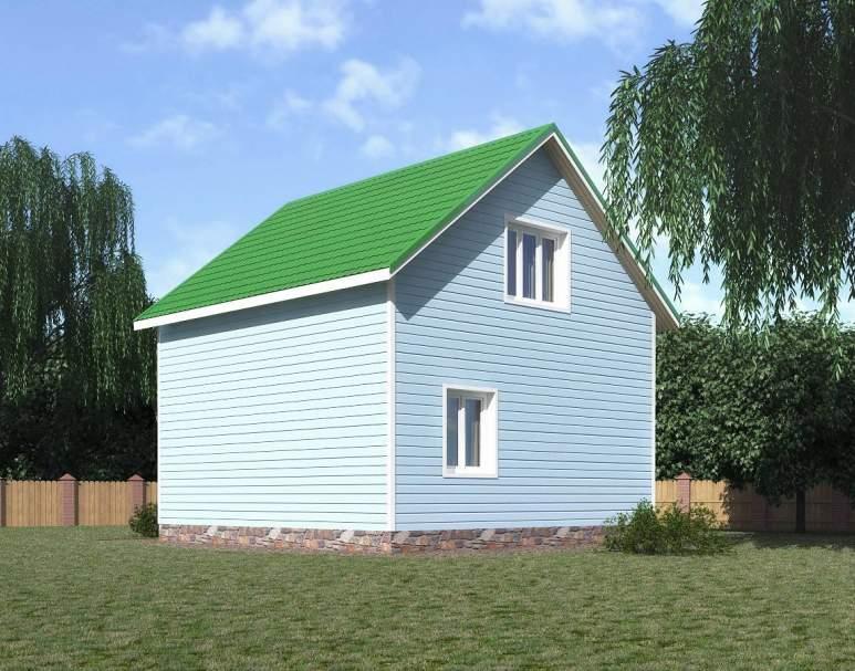 Каркасный дом КСД-02 (нажмите для увеличения)