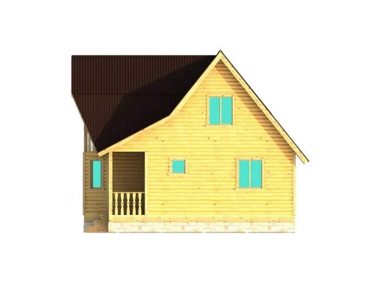 Каркасный дом АФК-101 (нажмите для увеличения)