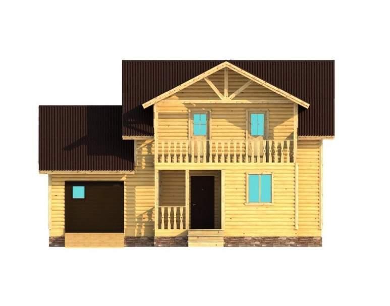 Каркасный дом АФК-108 (нажмите для увеличения)