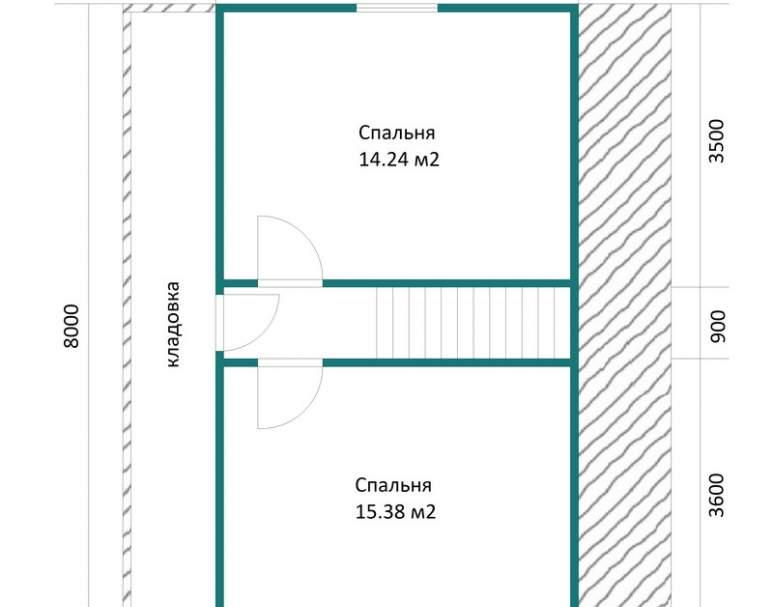Каркасный дом АФК-109 (нажмите для увеличения)