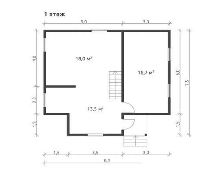 Дом из бруса КА-115 (нажмите для увеличения)