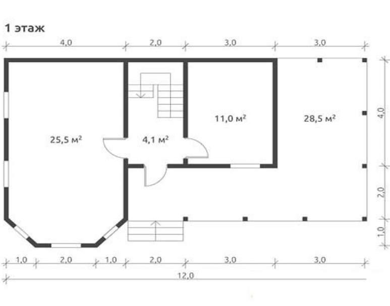 Дом из бруса КА-117 (нажмите для увеличения)