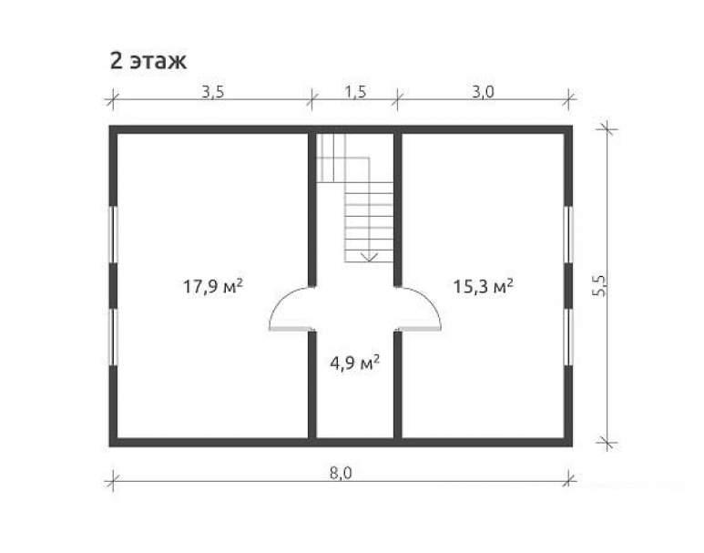 Дом из бруса КА-120 (нажмите для увеличения)