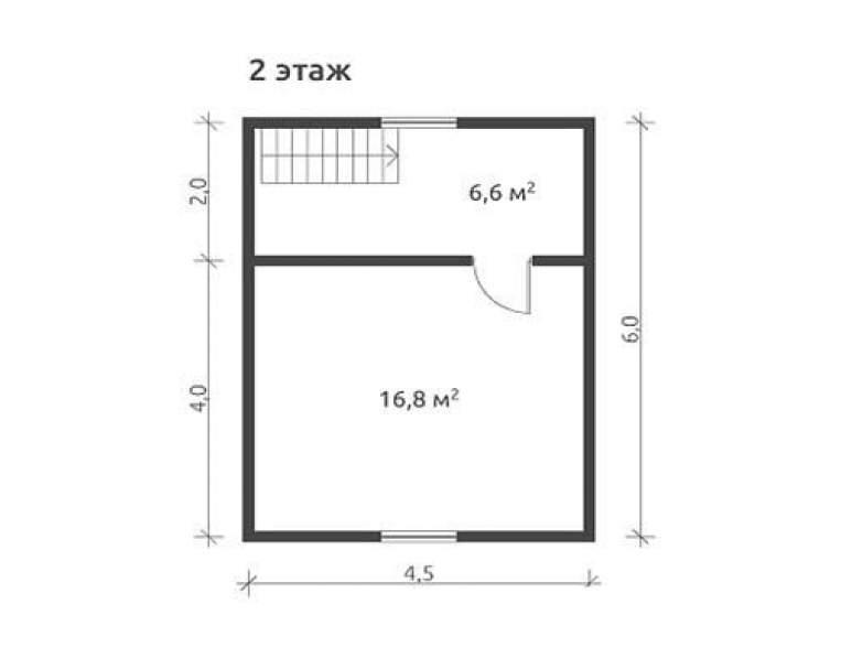 Дом из бруса КА-123 (нажмите для увеличения)