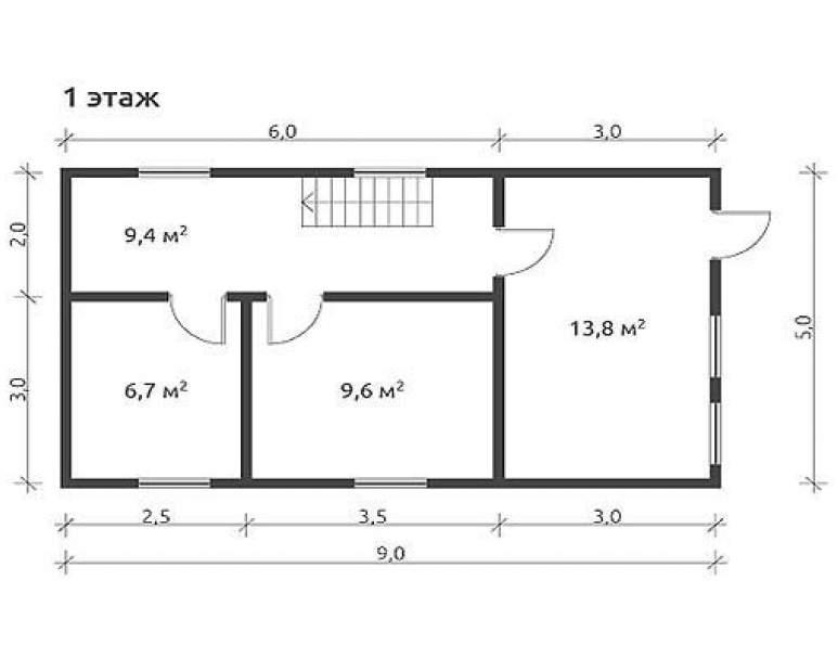 Дом из бруса КА-106 (нажмите для увеличения)