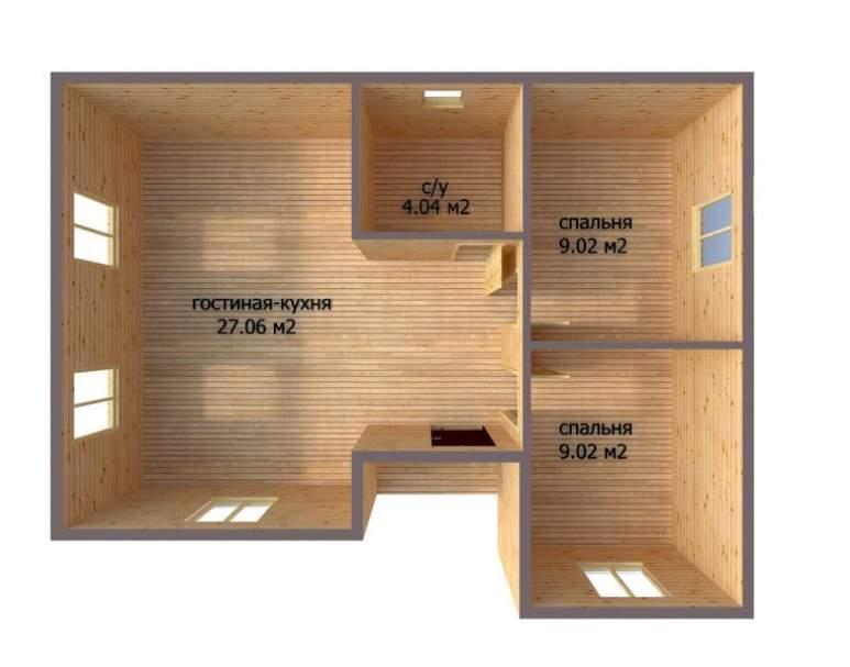 Каркасный дом АФК-111 (нажмите для увеличения)