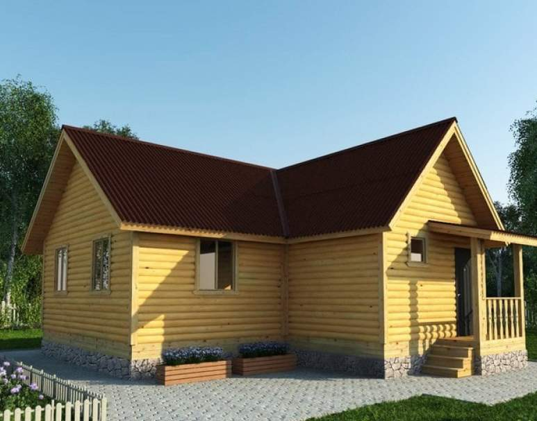 Каркасный дом АФК-112 (нажмите для увеличения)