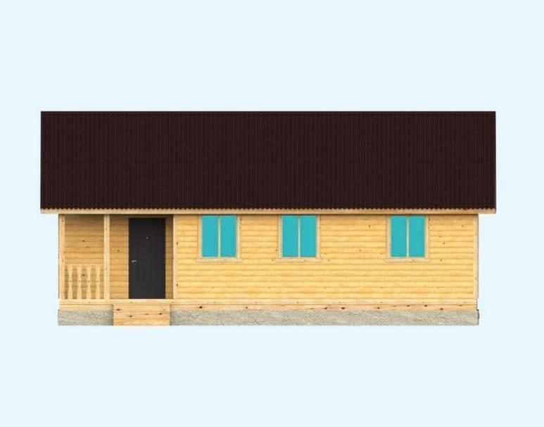 Каркасный дом АФК-114 (нажмите для увеличения)