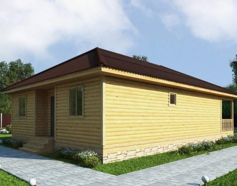 Каркасный дом АФК-116 (нажмите для увеличения)