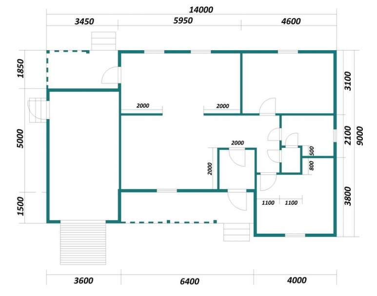 Каркасный дом АФК-118 (нажмите для увеличения)