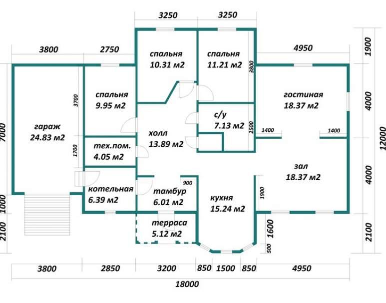 Каркасный дом АФК-120 (нажмите для увеличения)