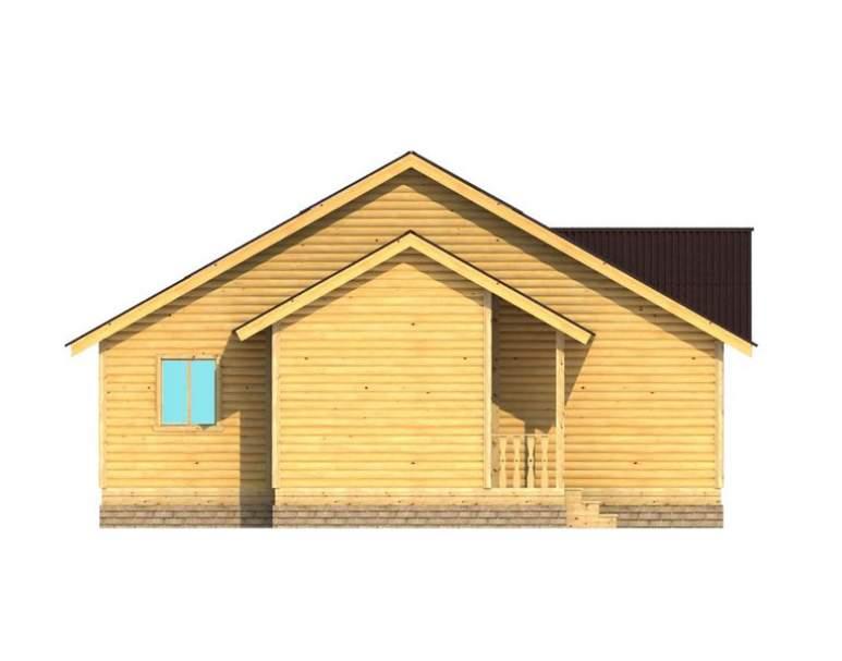 Каркасный дом АФК-124 (нажмите для увеличения)