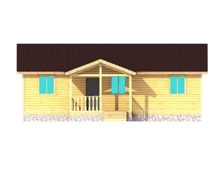 Каркасный дом АФК-125 (нажмите для увеличения)