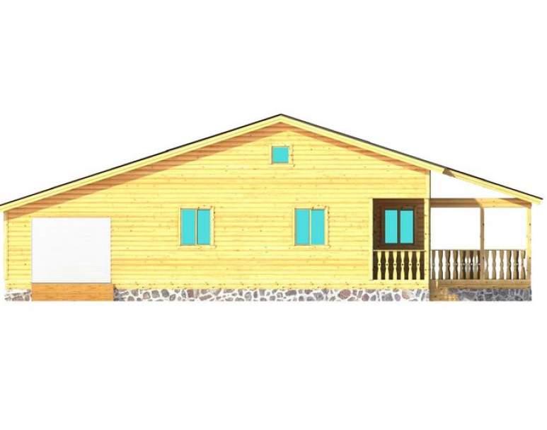 Каркасный дом АФК-127 (нажмите для увеличения)